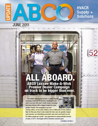 ALL ABOARD. ABCO Luxaire Make-A-Wish Premier Dealer Campaign on track to be bigger than ever.