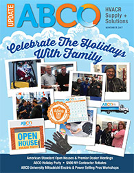 Celebrate the holidays with family. Your ABCO family.