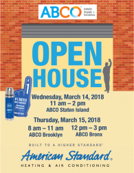 American Standard Open Houses March 2018