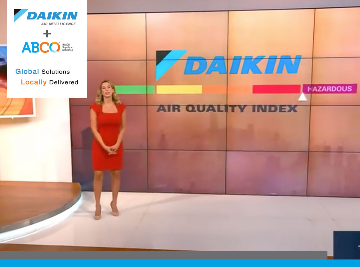 Daikin Air Quality Index on The Weather Channel